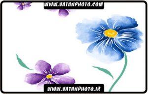 طرح بسیار با کیفیت از گل نقاشی شده با فرمت psd