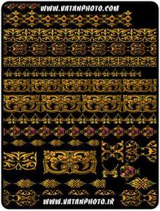طرح طلای حاشیه صفحه با کیفیت بالا+ psd