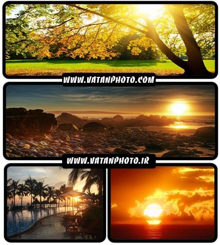 عکس های بسیار خیره کننده از غروب آفتاب + HD