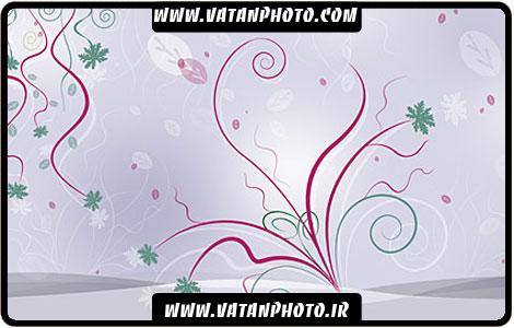 طرح ساده و جذاب گلبوته با رنگ شاد کاملا لایه باز+ psd