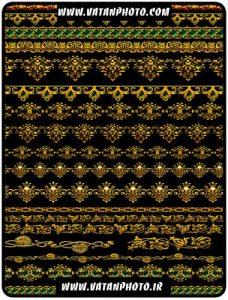 حاشیه اسلیمی طلای و با کیفیت صفحه کاملا لایه باز+ psd