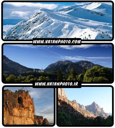 مجموعه عکس های با کیفیت از کوهستان در سایز HD