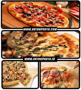 مجموعه 5 عکس بسیار با کیفیت از پیتزا