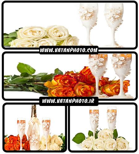 عکس های زیبا از گل و لیوان با کیفیت بالا + HD