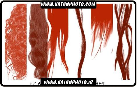 براش از طرح های گوناگون مو با کیفیت بالا