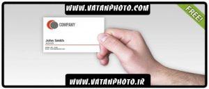 طرح کاملا لایه باز از کارت ویزیت با فرمت psd