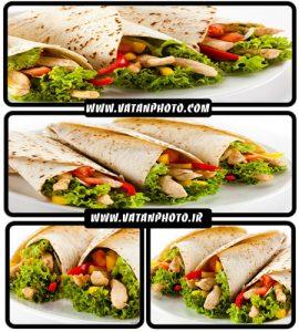عکس های جذاب از ساندویچ کباب با کیفیت بالا+ HD
