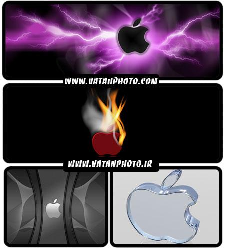 عکس های گرافیکی از لوگوهای گوناگون اپل + HD
