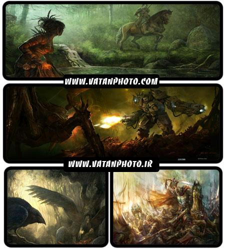 عکس های گرافیکی و فانتزی از بازی های رایانه ای + HD