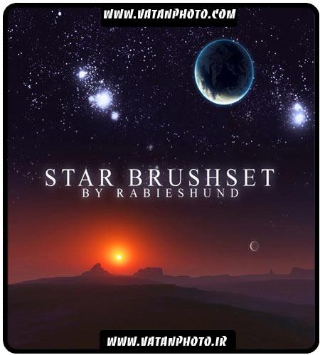 دانلود براش ماه و ستاره و سیاره ها با کیفیت بالا