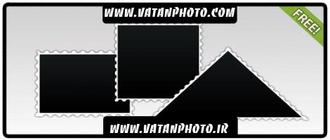 مجموعه سه طرح از قاب عکس با حاشیه کناری+ psd
