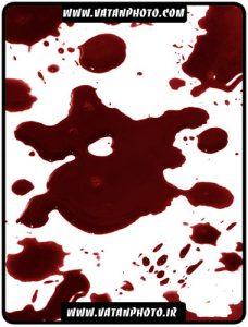 براش با کیفیت از لکه های جامد خون با رنگ کبود