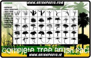 دانلود مجموعه براش درخت ها و شاخ و برگ