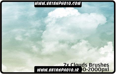 براش مجموعه ابر های فانتری برای کارهای گرافیکی