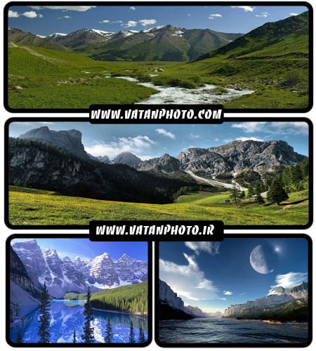 مجموعه عکس های کوهستان های سرسبز با کیفیت بالا+ HD