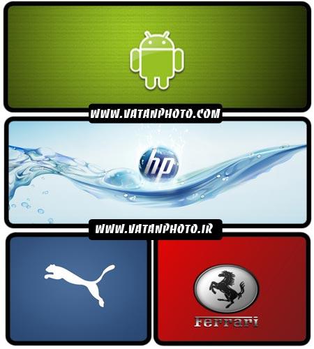 مجموعه عکس های از انواع لوگو های شرکت و نرم افزارها+ HD
