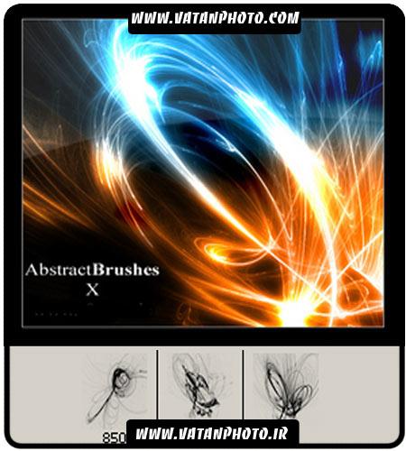 براش نور های براق و فراکتال ها برای کارهای گرافیکی