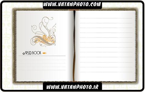 طرح کاملا لایه باز دفترچه خاطرات + psd