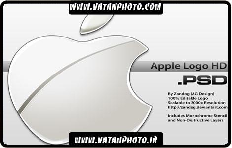 طرح کاملا لایه باز از لوگو اَپل با کیفیت بالا+ psd