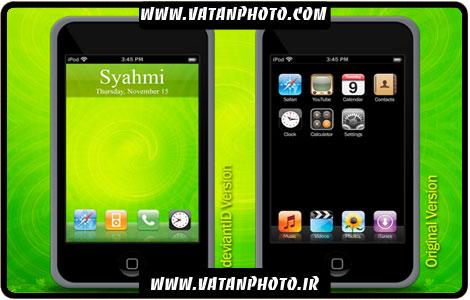 طرح کاملا لایه باز از گوشی موبایل با کیفیت بالا+ psd