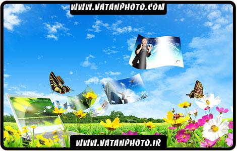 طرح تبلیغاتی سه بعدی گل و طبیعت