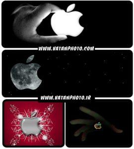 دانلود عکس های با کیفیت از لوگوهای اپل با کیفیت بالا+ HD