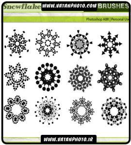 براش چند ضلعی و دایره ای از طرح های اسلیمی