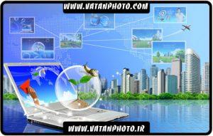 طرح تبلیغاتی و سه بعدی جهانی شدن تکنولوژی