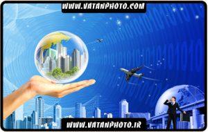 طرح سه بعدی جهان و تکنولوژی