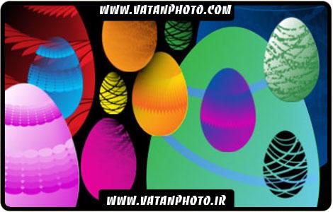 مجموعه براش های جذاب از تخم مرغ