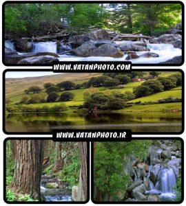 والپیپر های جذاب طبیعت سرسبز و آبشارها+ wallpaper