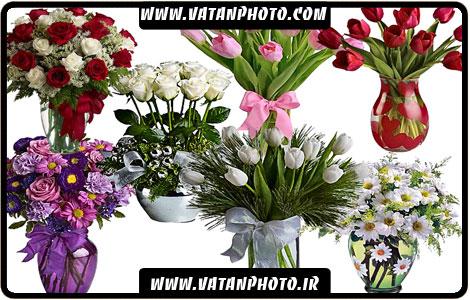 طرح لایه باز گلدان های گل با کیفیت بالا