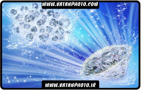 طرح تبلیغاتی الماس برای جواهر فروشی
