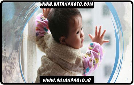 ژست جدید نوزادان برای آتلیه عکس کودکان