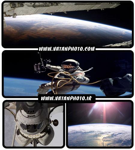 دانلود والپیپر فضا و فضانوردان با کیفیت HD + wallpaper
