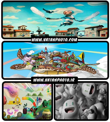 مجموعه ای از والپیپرهای کارتونی با کیفیت بالا + WallPaper
