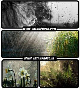 مجموعه ای از والپیپر مناظر در روزهای بارانی