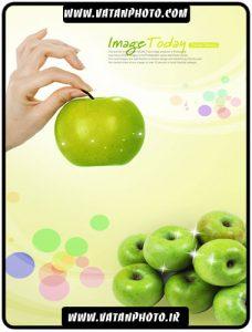 کارت ویزیت تبلیغاتی با طرح سیب سبز