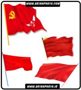 مجموعه 4 طرح از پرچم قرمز