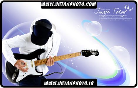 طرح کارت ویزیت آماده برای نوازنده های گیتار