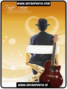 کارت ویزیت آماده طولی برای نوازنده های گیتار