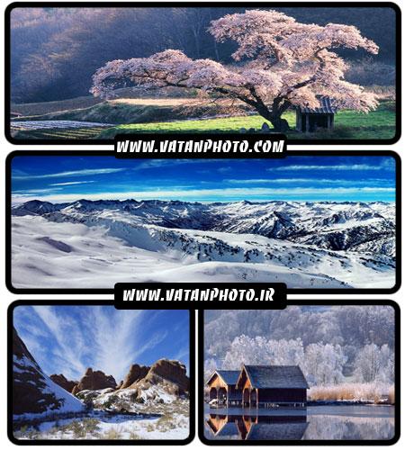 مجموعه والپیپرهای بسیار جذاب از طبیعت و برف+ wallpaper HD