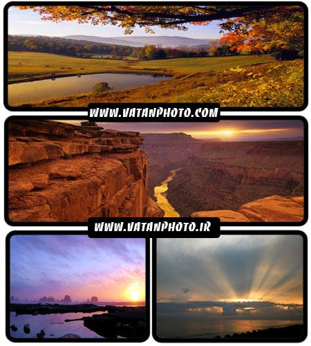مجموعه 21 عکس از غروب در طبیعت در سایز عریض wallpaper HD