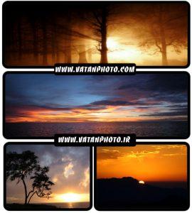 مجموعه 23  عکس از غروب و طلوع خورشید+ wallpaper HD