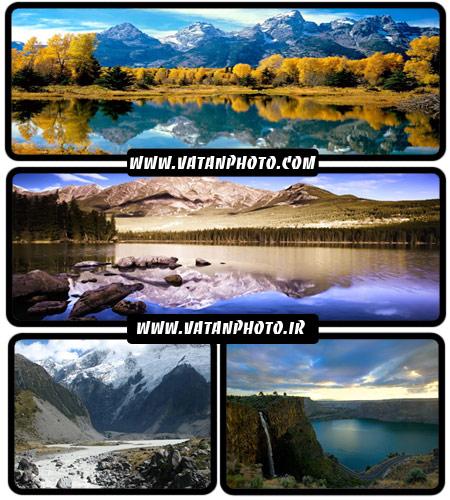 مجموعه عکس های عریض از کوهستان و دریاچه ها در کوهستان HD