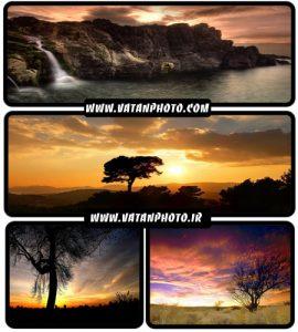 عکس های بسیار جذاب از غروب آفتاب در سایز HD