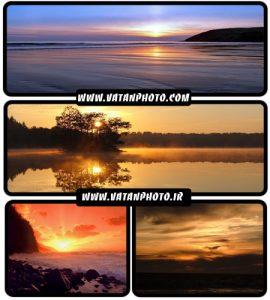 22 عکس با کیفیت از دریا و ساحل دریا در زمان غروب خورشید+ wallpaper HD