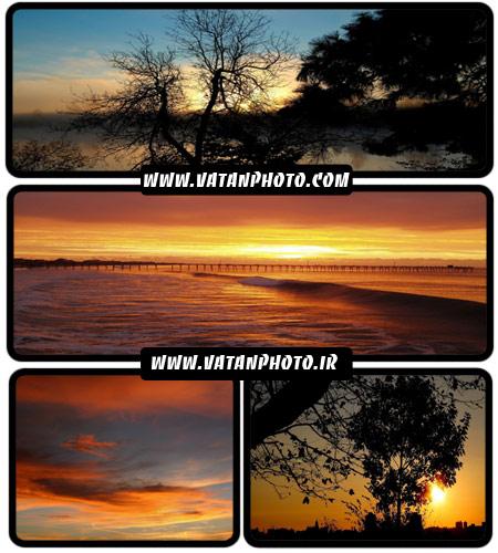 مجموعه 20 عکس غروب در طبیعت با کیفیت بالا+ wallpaper HD