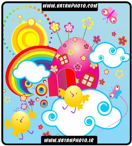 وکتور نقاشی کودکانه برای مهد