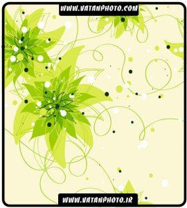 وکتور بگراند گلبوته های سبز